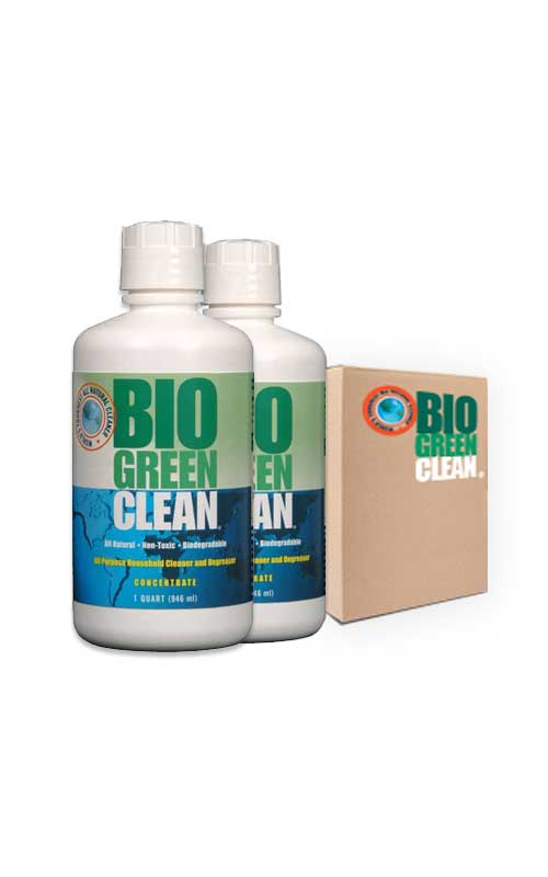 Bio Green Clean - Green Cleaner -case of quart concentrate product.